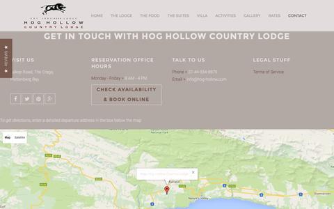 Screenshot of Contact Page hog-hollow.com - Contact us - captured July 15, 2016