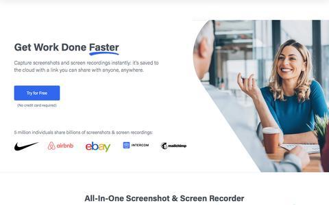 Screenshot of Home Page droplr.com - Droplr - Get Work Done Faster - Capture screenshots instantly - captured Feb. 11, 2020