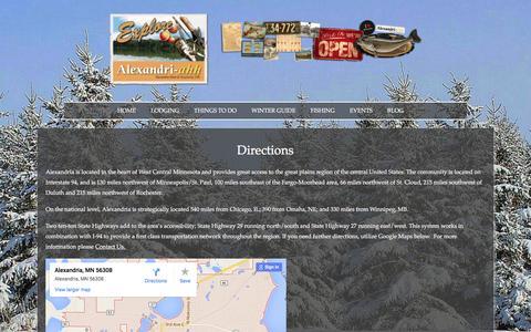 Screenshot of Maps & Directions Page explorealex.com - Directions - Explore Alex - captured Feb. 5, 2016