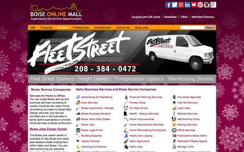 Screenshot of Services Page boiseonlinemall.com - Idaho Businesses | Service Companies @ Boise Online Mall - captured Jan. 6, 2016