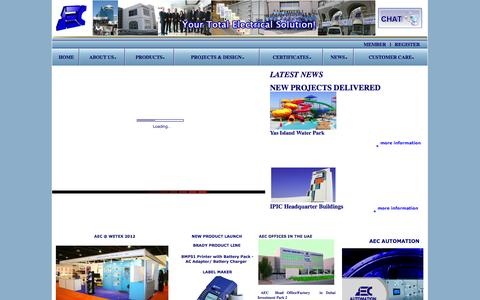 Screenshot of Home Page aec-me.com - ::Welcome to Our Website:: !!! - captured Oct. 4, 2014