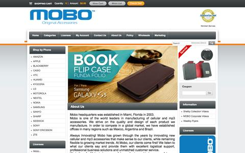 Screenshot of About Page mobousa.com - About Us - captured Oct. 7, 2014