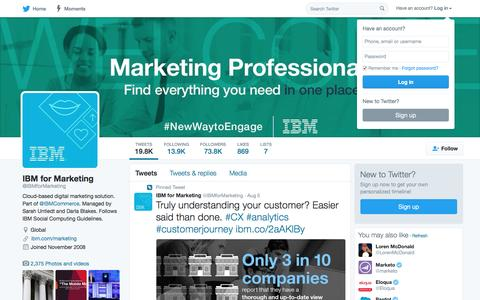 IBM for Marketing (@IBMforMarketing) | Twitter