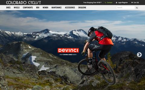 Screenshot of Home Page coloradocyclist.com - The Colorado Cyclist   Shop for Bicycles, Bike Parts and Accessories - captured Oct. 7, 2015