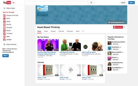 Screenshot of YouTube Page youtube.com - Asset Based Thinking  - YouTube - captured Oct. 23, 2014