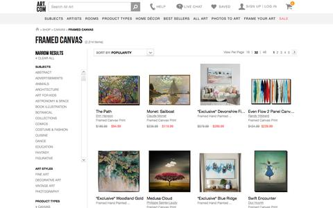 Framed Canvas, Posters and Prints at Art.com