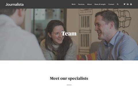 Screenshot of Team Page journalista.co.uk - Team - Journalista - captured Aug. 7, 2016