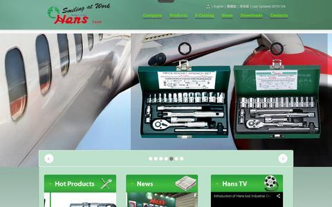 Screenshot of Home Page hanstool.com - Hans Tool Industrial Co., Ltd. - captured Jan. 25, 2016