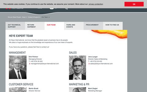Screenshot of Team Page heye-international.com - Our Team - captured Sept. 28, 2018