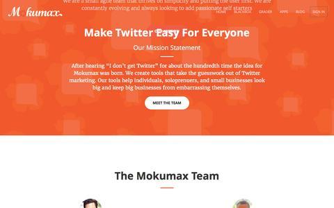Screenshot of Team Page mokumax.com - Mokumax Careers and Team   Mokumax - captured Aug. 12, 2016