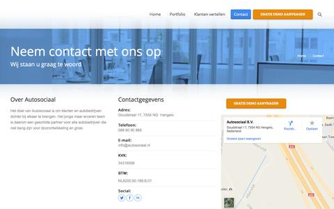 Screenshot of Contact Page autosociaal.nl - Contact - Autosociaal - captured July 27, 2016