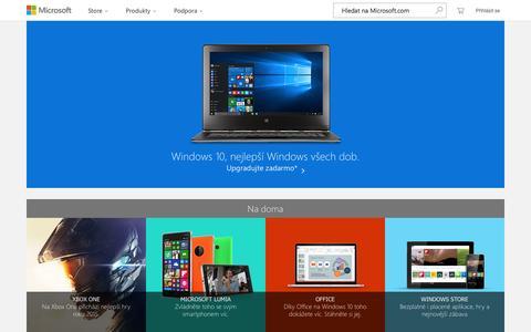 Screenshot of Home Page microsoft.com - Oficiální domovská stránka Microsoft - captured Sept. 5, 2015