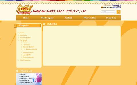 Screenshot of Jobs Page hamdam.net - Hamdam Paper - captured Oct. 1, 2014