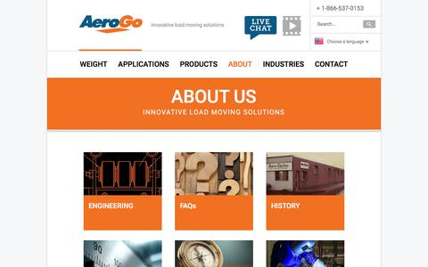 Screenshot of About Page aerogo.com - About | AeroGo, Inc. - captured Nov. 20, 2016