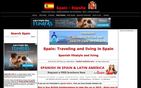 Screenshot of Home Page espana-spain.com - Spain - Holidays living and property in Spain. Spanish festivals food and wine - captured June 30, 2017