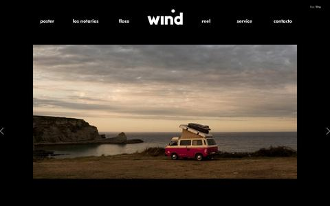 Screenshot of Services Page windp.com - Wind Productions   |  Service - captured Oct. 26, 2014