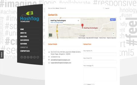 Screenshot of Contact Page hashtagtechnologies.com - Contact Us | HashTag Technologies - captured Oct. 28, 2014