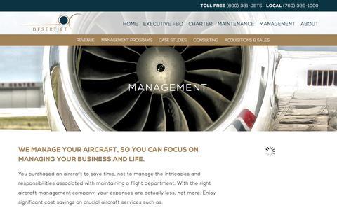 Screenshot of Team Page desertjet.com - Aircraft Management & Consulting | Desert Jet Management, Palm Springs - captured Jan. 7, 2016