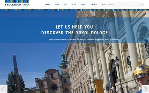 Screenshot of Home Page stockholminfo.com - Start | - captured Oct. 7, 2014