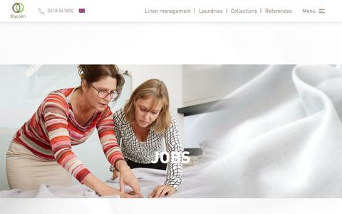 Screenshot of Jobs Page blycolin.com - Customers deserve optimal hopspitality | Working at Blycolin - Blycolin – Carefree linen management - captured Oct. 10, 2017