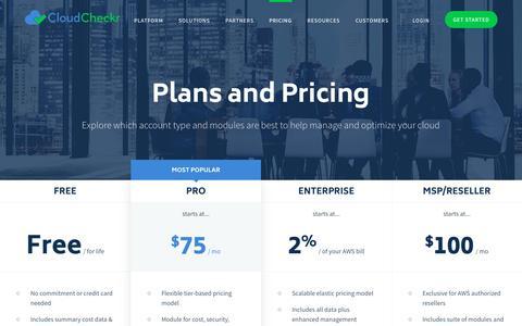 Pricing - CloudCheckr