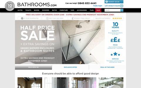 Screenshot of Home Page bathrooms.com - The UK's favourite online bathroom retailer   Bathrooms.com - captured Nov. 22, 2015