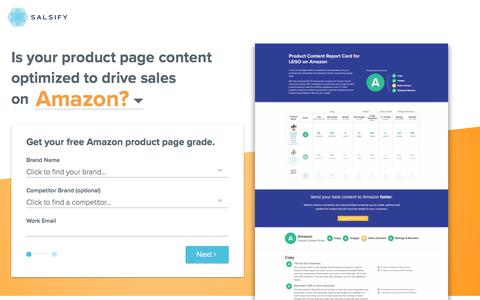 Amazon Product Data Grader | Salsify
