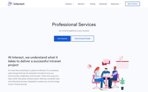 Screenshot of Services Page interact-intranet.com - Strategic Intranet Professional Services | Interact Software - captured May 24, 2019