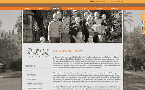 Screenshot of Team Page roundpond.com - The Family :  Round Pond Estate - captured Oct. 9, 2014