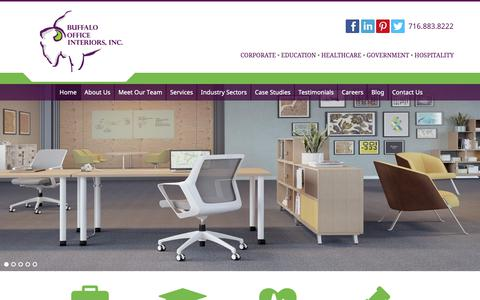 Screenshot of Home Page boisite.com - Office Furniture Store Buffalo NY - Commercial Interior Design | Buffalo Office Interiors, Inc - captured Oct. 6, 2018