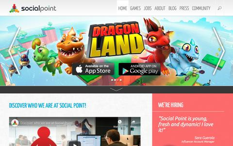Screenshot of Home Page socialpoint.es - Social Point: Game developers - captured Oct. 19, 2018