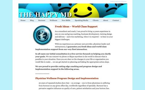 Screenshot of Services Page thehappymd.com - Services - captured Sept. 19, 2014