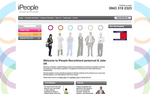 Screenshot of Home Page ipeopleltd.co.uk - Retail Jobs in Dubai | Graduate Jobs in Dubai | iPeople Ltd - captured Feb. 2, 2016
