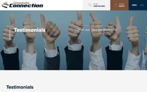 Screenshot of Testimonials Page communicationconnection.ca - Testimonials   Communication Connection - captured July 6, 2017