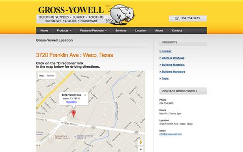 Screenshot of Maps & Directions Page grossyowell.com - Gross-Yowell Location - captured Feb. 2, 2016