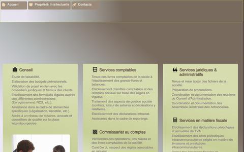 Screenshot of Services Page atservices.lu - AT Services Luxembourg, conseil et fiscalité, cadre juridique et domiciliation de sociétés à Luxembourg - captured Sept. 30, 2014