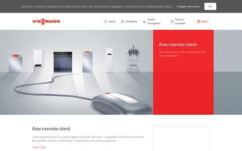 Screenshot of Login Page viessmann.it - Login Servizi Online Viessmann - captured June 25, 2017