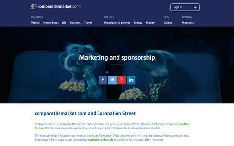 Marketing and sponsorship | comparethemarket.com