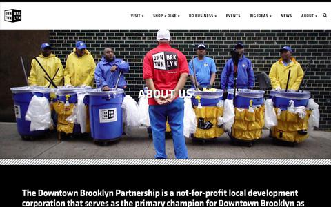 Screenshot of About Page downtownbrooklyn.com - About Us - Downtown Brooklyn - captured Oct. 9, 2018