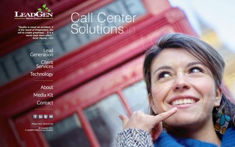 Screenshot of Home Page leadgenmediagroup.com - LeadGen Media Group - captured Oct. 2, 2014