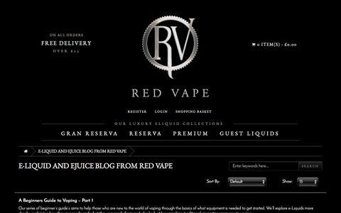 Screenshot of Blog redvape.com - e-Liquid and eJuice Blog from Red Vape - captured Dec. 12, 2016