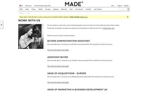 Jobs | made.com