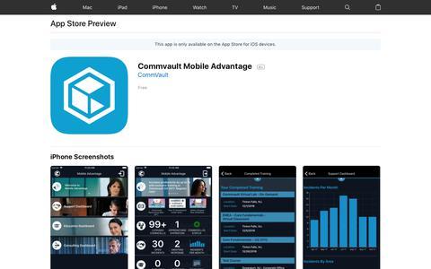 Commvault Mobile Advantage on the AppStore