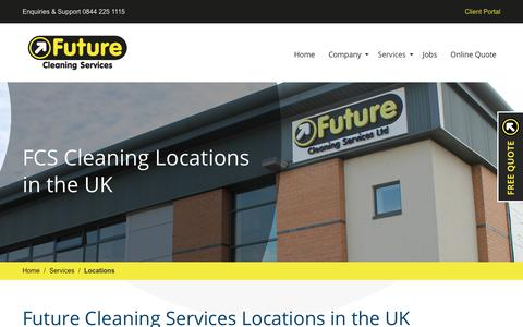 Screenshot of Locations Page futurecleaningservices.co.uk - Future Cleaning Services Locations in the UK (Areas of Service) - captured Oct. 11, 2018