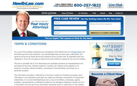 Terms & Conditions - Newlin Law Website