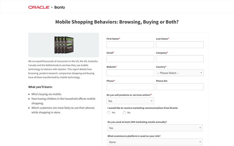 White Paper: Mobile Shopping Behaviors: Browsing, Buying or Both? | Bronto Software
