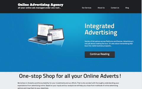 Screenshot of Home Page onlineadvertisingagency.co.in - Internet Advertising Services | Online Advertising Agency - captured Sept. 30, 2014