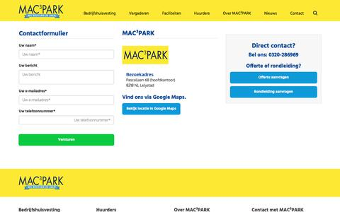 Screenshot of Contact Page mac3park.nl - Contact - captured May 25, 2017