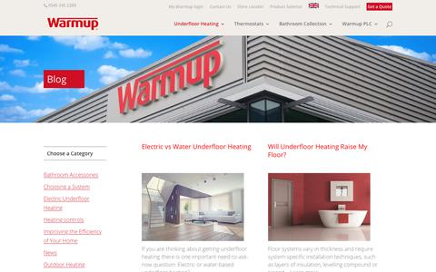 Screenshot of Blog warmup.co.uk - Underfloor Heating Tips, Advice and Tutorials | Warmup Blog - captured Nov. 20, 2019