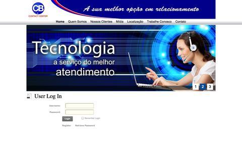 Screenshot of Login Page cbcontactcenter.com.br - User Log In - captured Sept. 26, 2014
